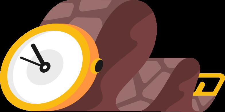 Ilustración de clipart de reloj de pulsera en PNG, SVG