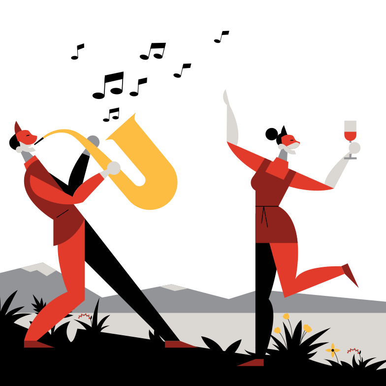 Open air music festival Clipart illustration in PNG, SVG