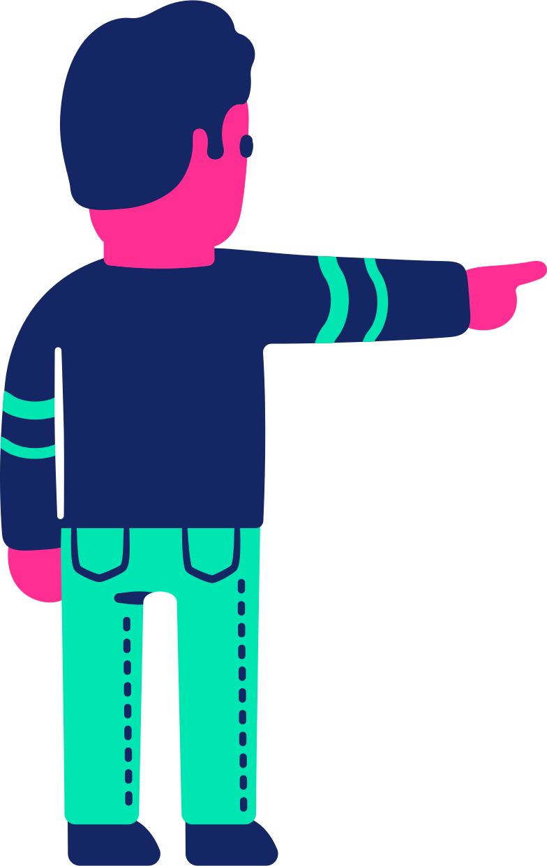 style man back pointing Vector images in PNG and SVG | Icons8 Illustrations