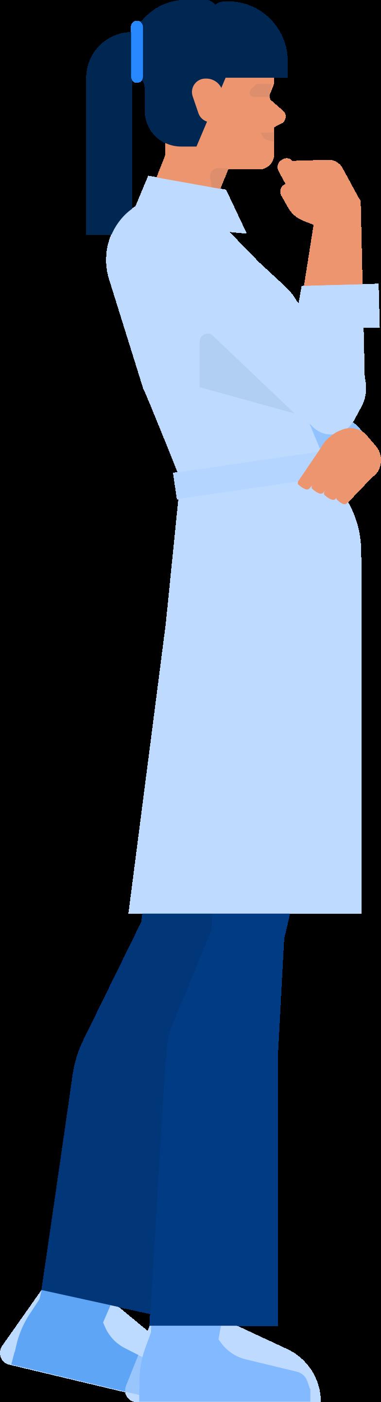 Ilustración de clipart de doctor en PNG, SVG