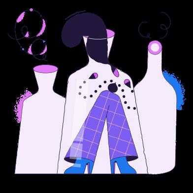 Иллюстрация В бутылке в стиле  в PNG и SVG | Icons8 Иллюстрации