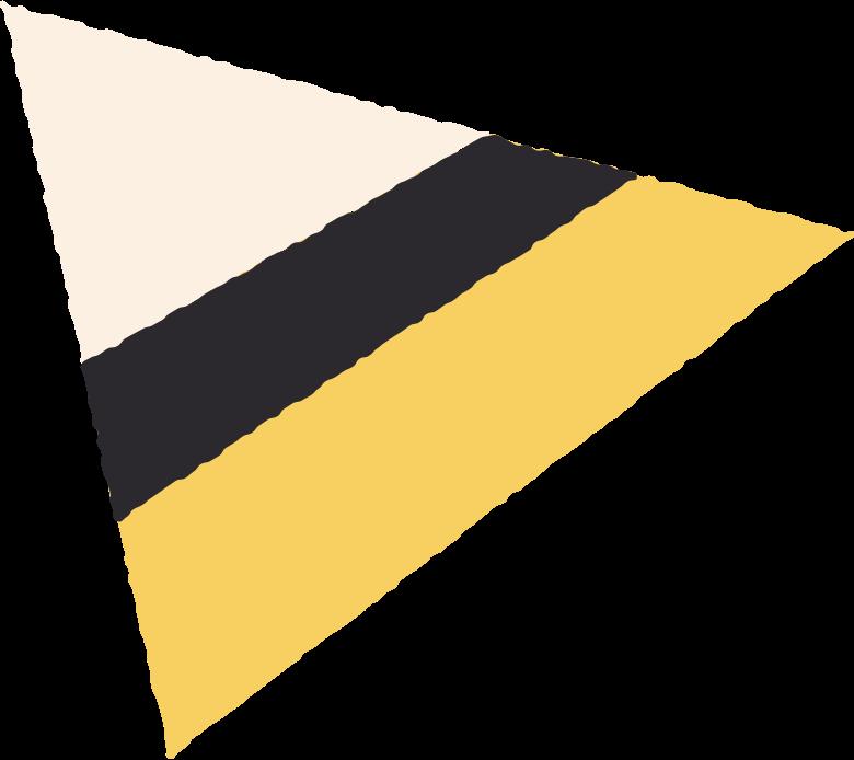 Triângulo de 3 cores Clipart illustration in PNG, SVG