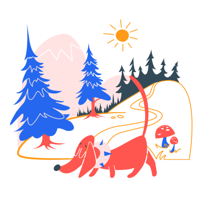 style Enjoying forest escape images in PNG and SVG | Icons8 Illustrations
