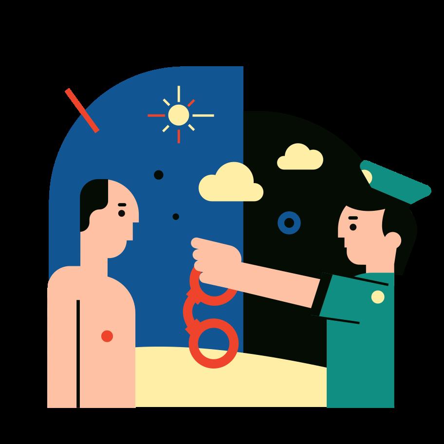 Got arrested Clipart illustration in PNG, SVG