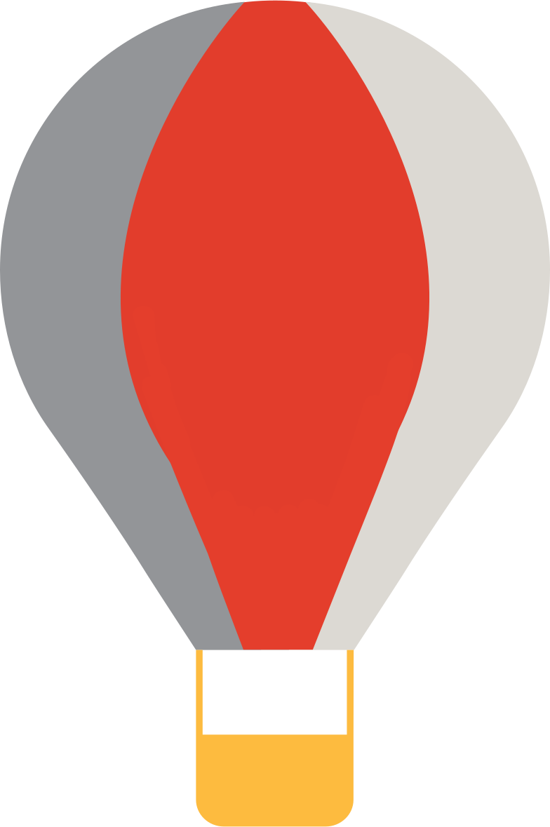 hot air balloon Clipart illustration in PNG, SVG