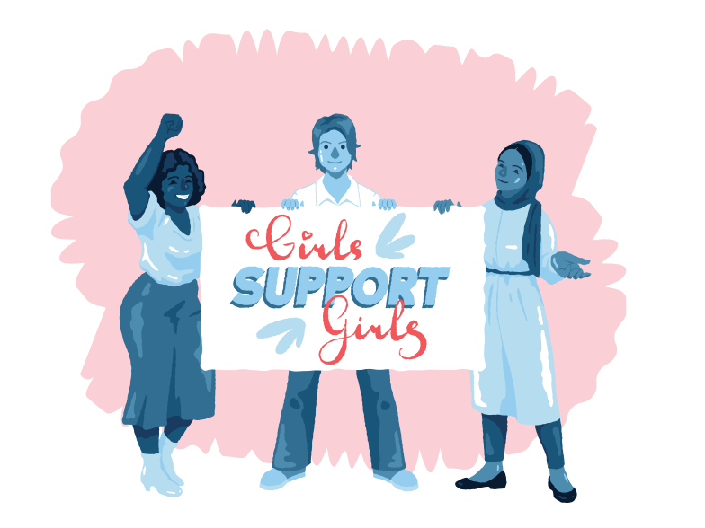 style Girls support girls Vector images in PNG and SVG | Icons8 Illustrations