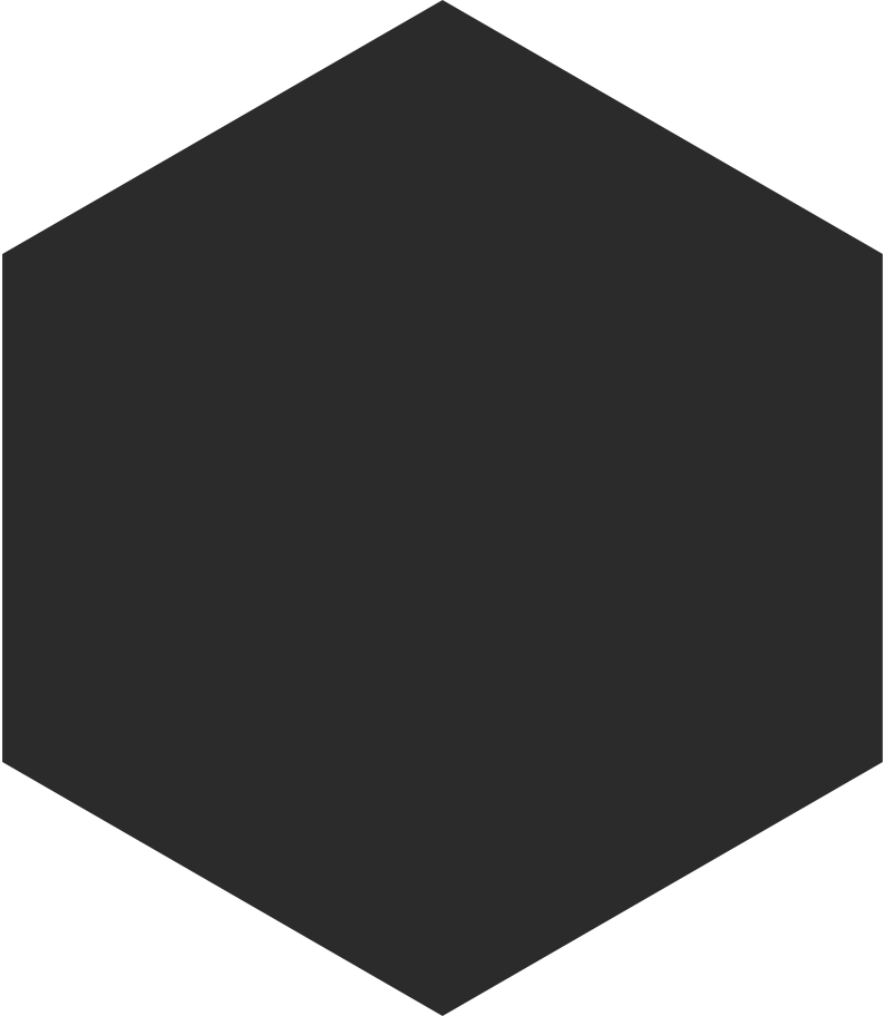 hexagon black Clipart illustration in PNG, SVG