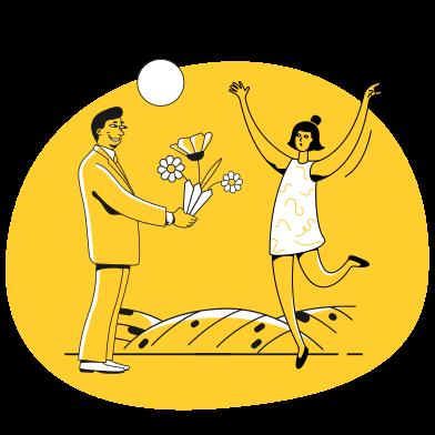 Иллюстрация Встреча в стиле  в PNG и SVG | Icons8 Иллюстрации