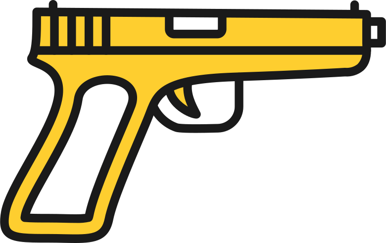 taxi  pistol gun weapon Clipart illustration in PNG, SVG