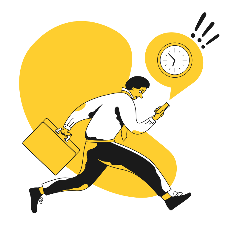 style Businessman late for work Vector images in PNG and SVG | Icons8 Illustrations