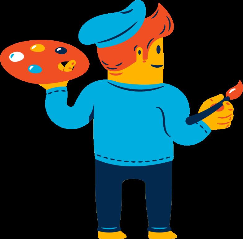 man artist Clipart illustration in PNG, SVG
