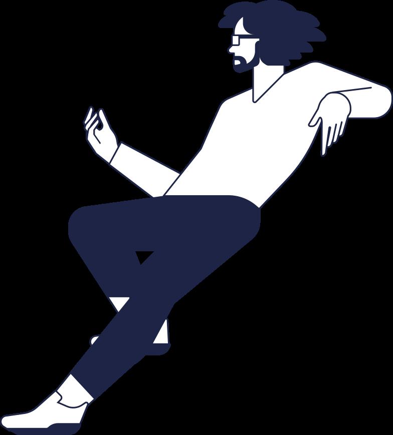 man sitting line Clipart illustration in PNG, SVG