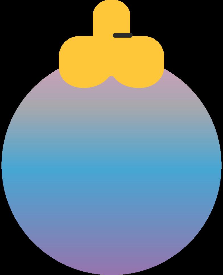 christmas ball purplish Clipart illustration in PNG, SVG