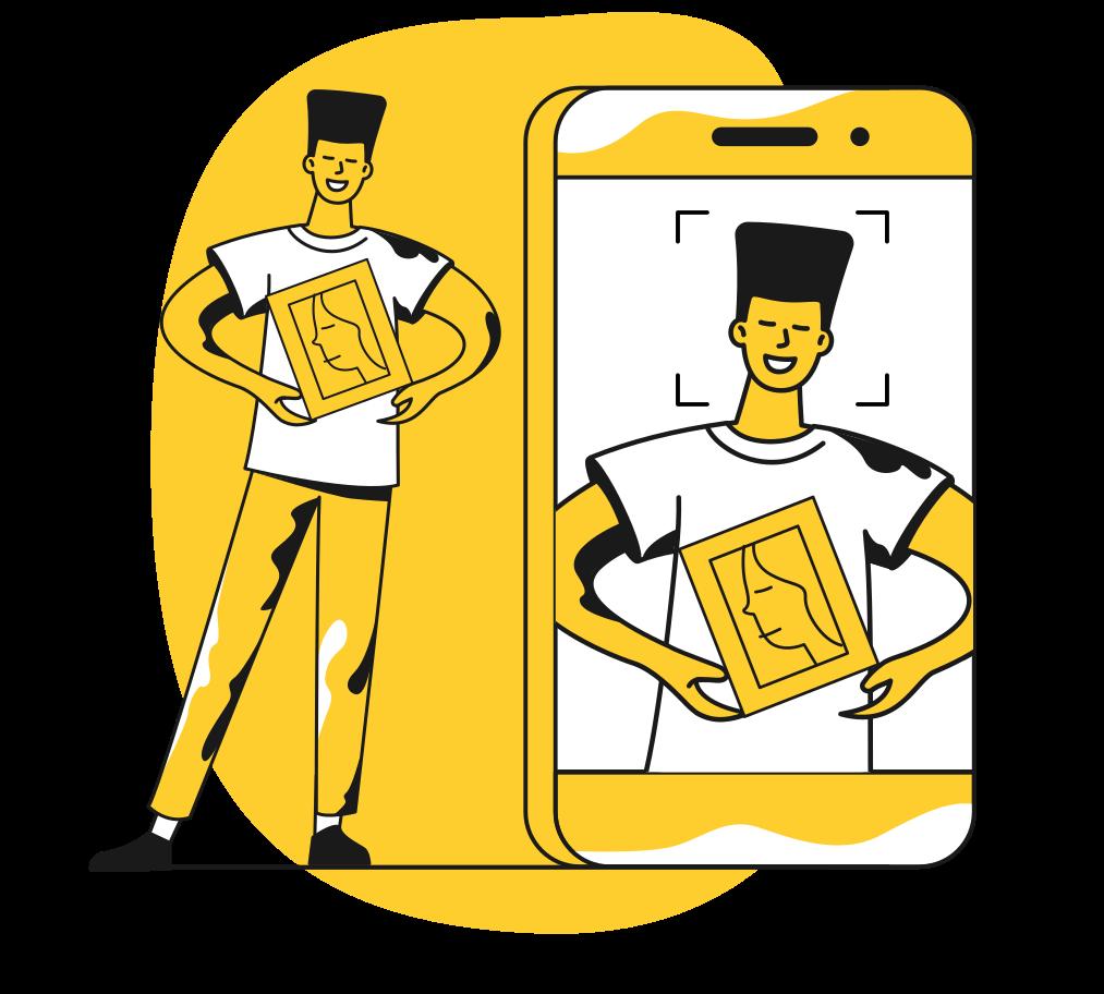 Focusing Clipart illustration in PNG, SVG