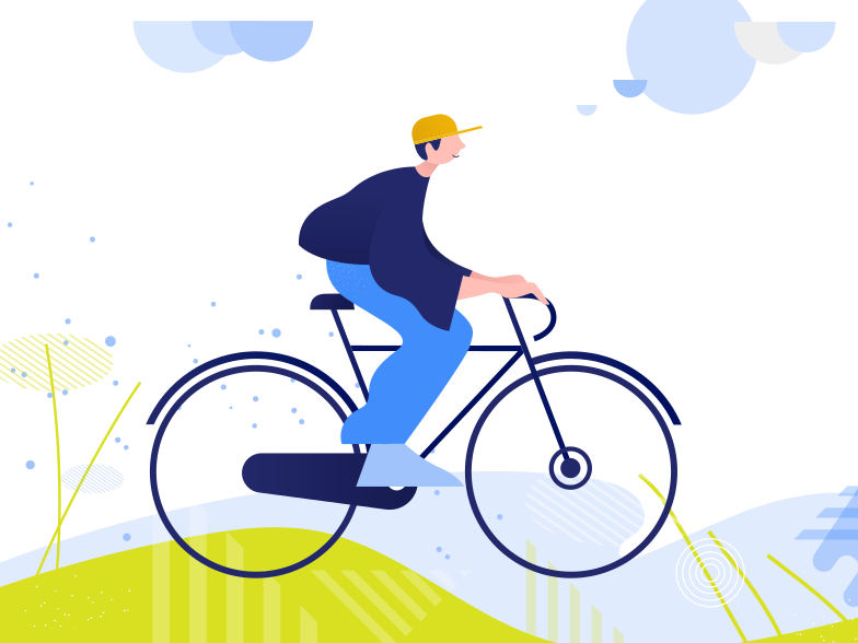 style Cycling around parks and other recreational areas. Vector images in PNG and SVG | Icons8 Illustrations