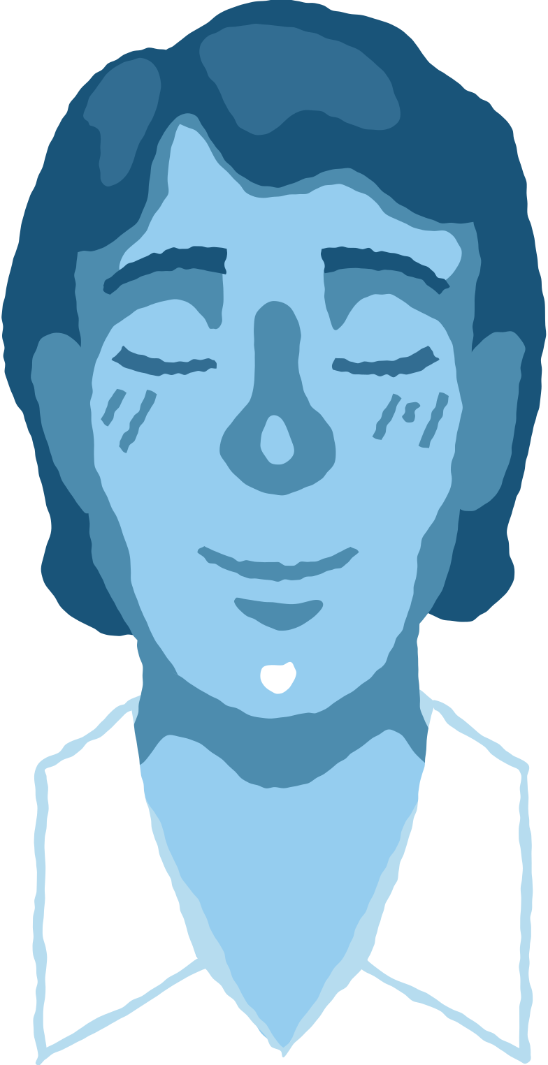 man head peaceful Clipart illustration in PNG, SVG