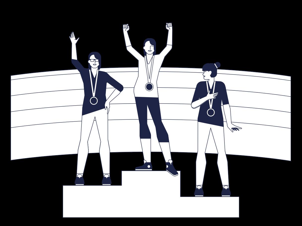 Olympiasieger Clipart-Grafik als PNG, SVG