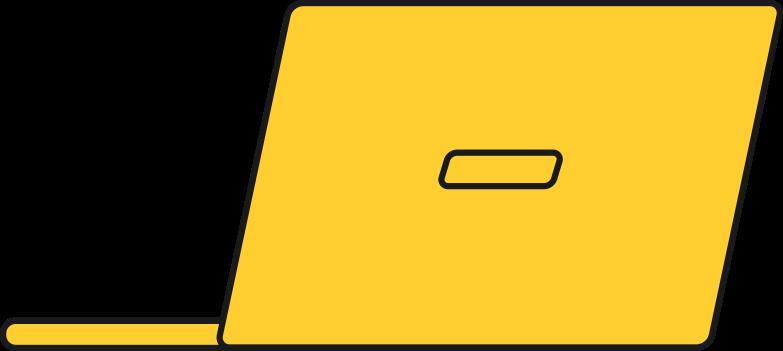 Laptop pc de volta Clipart illustration in PNG, SVG