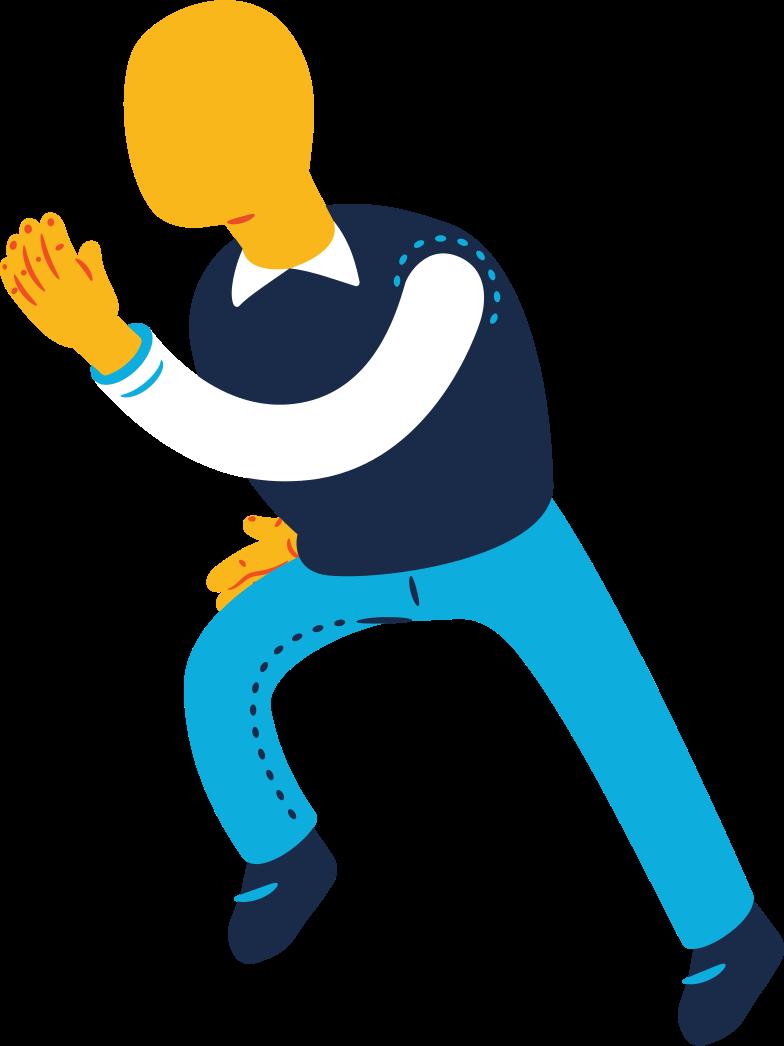 old man running Clipart illustration in PNG, SVG