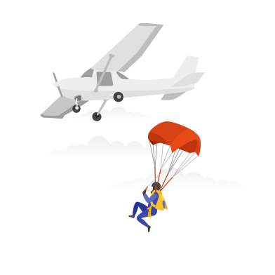 style  Skydiving images in PNG and SVG | Icons8 Illustrations