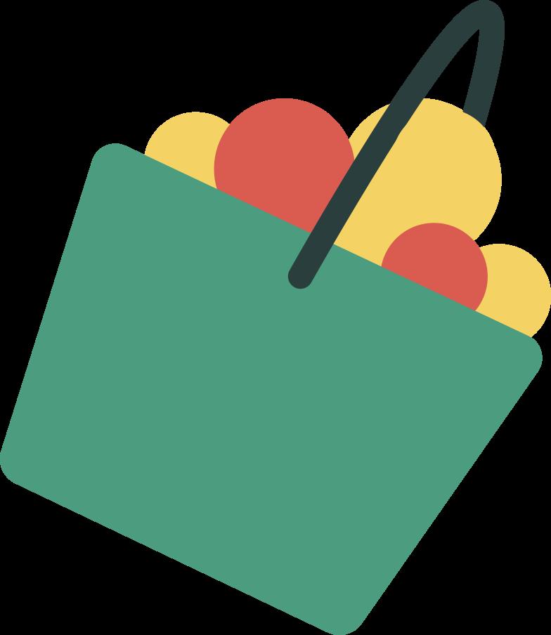 Cesto de frutas Clipart illustration in PNG, SVG
