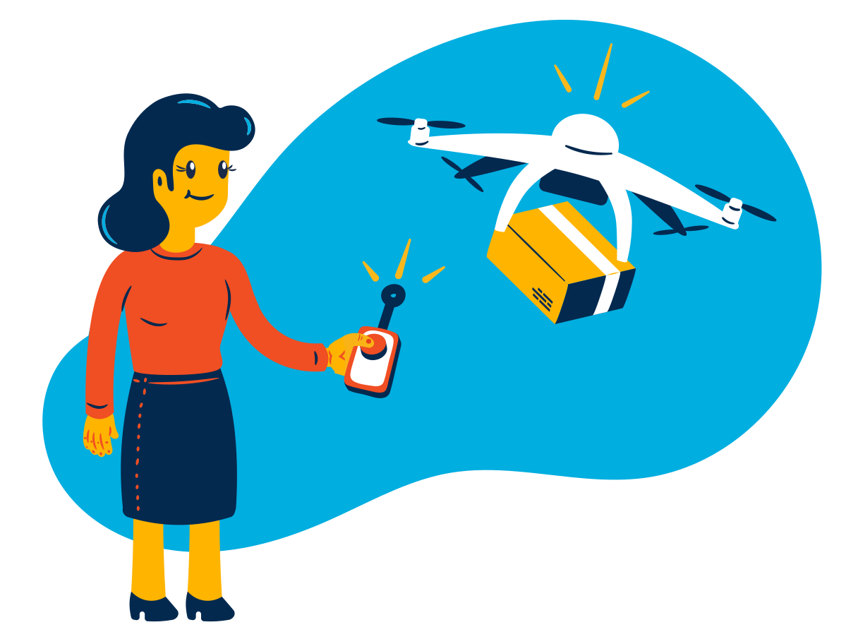 style Drone delivery Vector images in PNG and SVG   Icons8 Illustrations