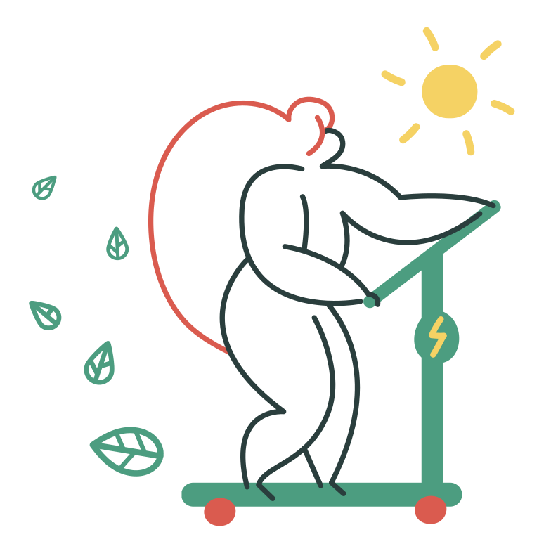 Eco-friendly scooter Clipart illustration in PNG, SVG