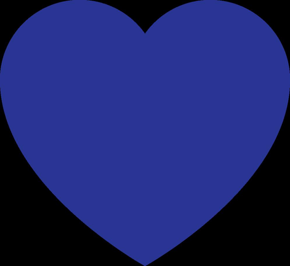 heart dark blue Clipart illustration in PNG, SVG