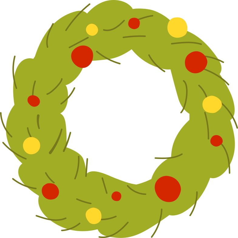 style christmas wreath Vector images in PNG and SVG | Icons8 Illustrations