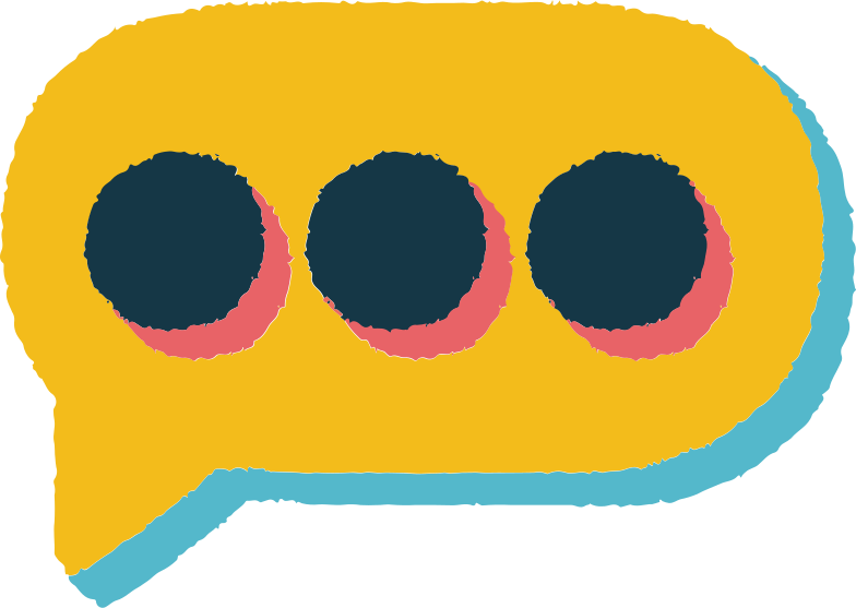 three dots in speech bubble Clipart illustration in PNG, SVG