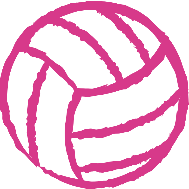 volleyball ball Clipart illustration in PNG, SVG
