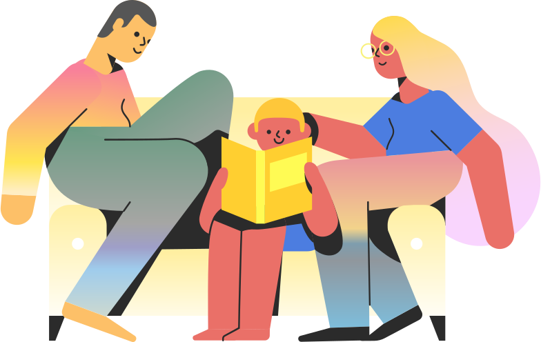 family  family on couch Clipart illustration in PNG, SVG