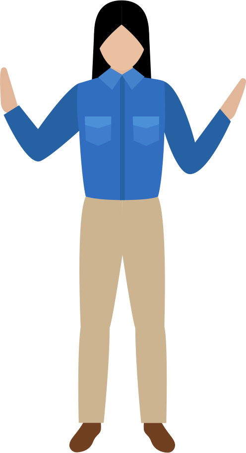woman in shirt and pants Clipart illustration in PNG, SVG