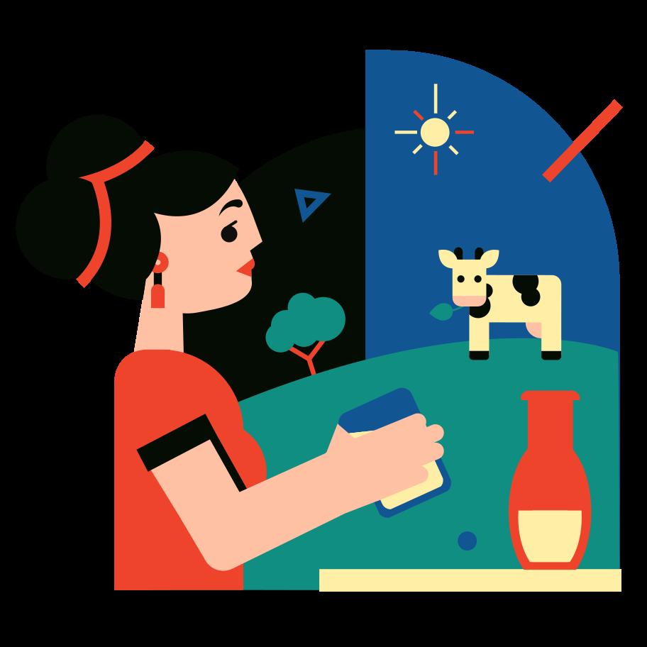 Fresh milk Clipart illustration in PNG, SVG