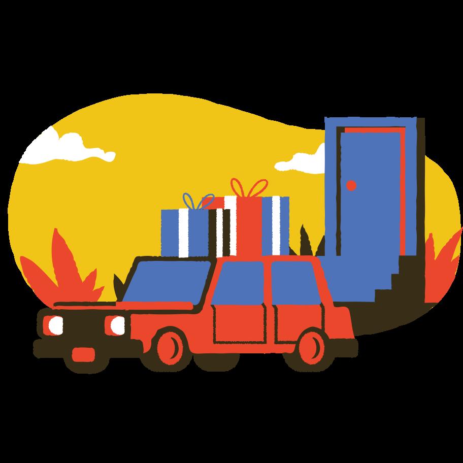 Delivery car service Clipart illustration in PNG, SVG