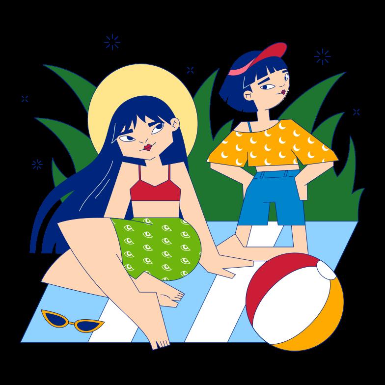 Summer picnic Clipart illustration in PNG, SVG