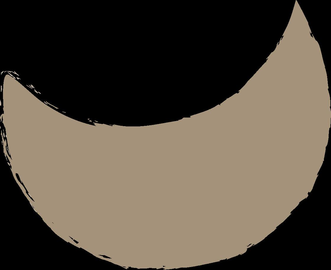 crescent-grey Clipart illustration in PNG, SVG