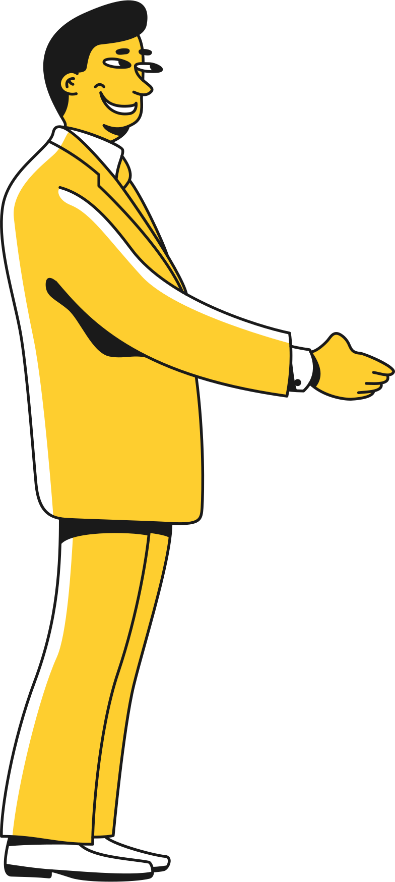 taxi  politician shaking hand Clipart illustration in PNG, SVG