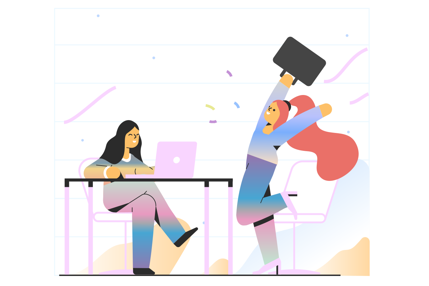 PNGとSVGの  スタイルの 成功した就職の面接 ベクターイメージ | Icons8 イラスト