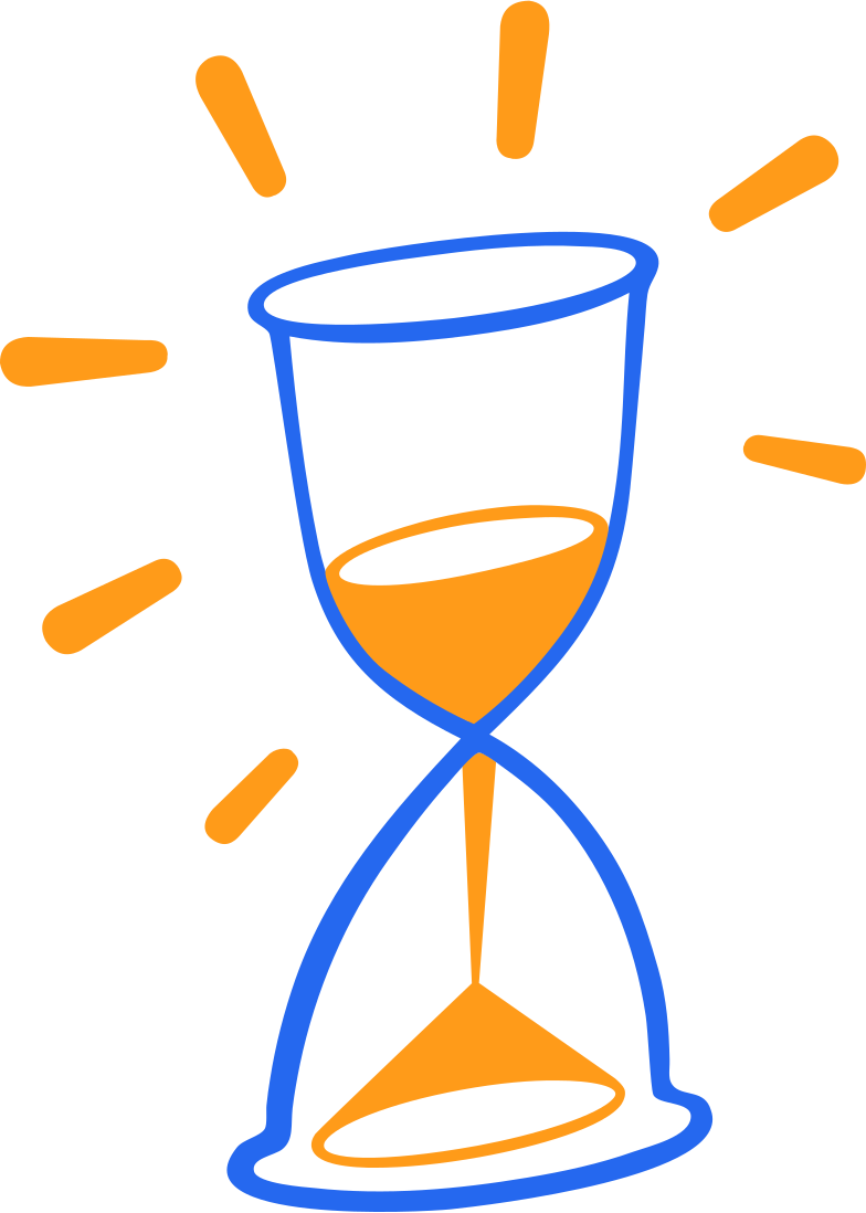 hourglass with decorative lines Clipart illustration in PNG, SVG