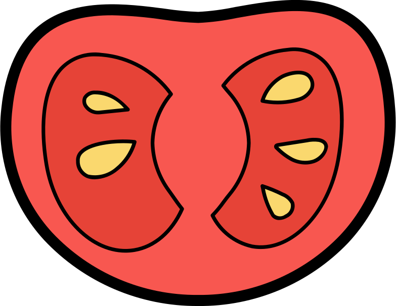 half a tomato Clipart illustration in PNG, SVG