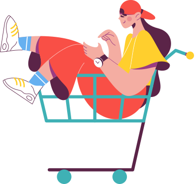 style 食料品のカートの女の子 images in PNG and SVG | Icons8 Illustrations