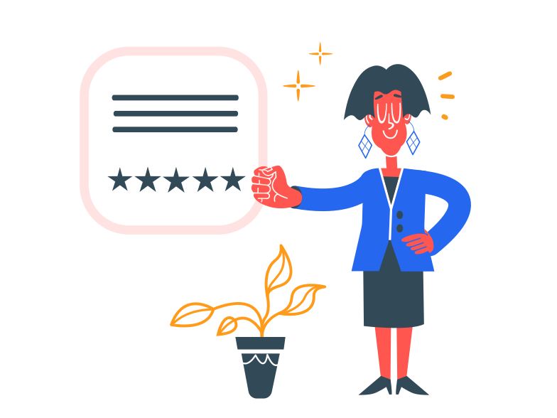 Five stars rating Clipart illustration in PNG, SVG