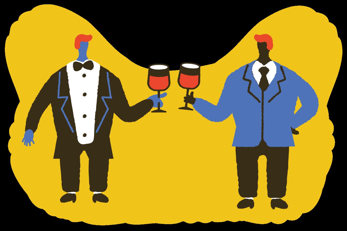 Let's drink some wine Clipart illustration in PNG, SVG