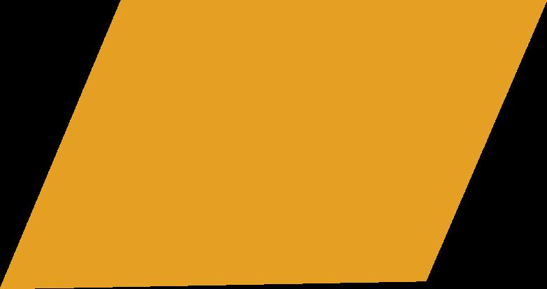 Parallelogramm orange Clipart-Grafik als PNG, SVG