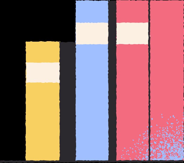 books on shelf Clipart illustration in PNG, SVG