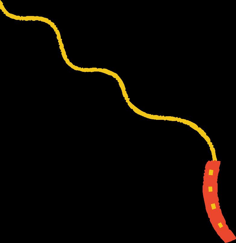 dog leash Clipart illustration in PNG, SVG