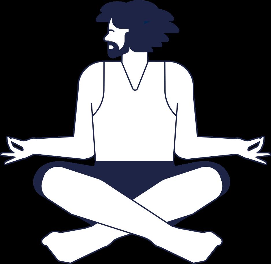 yoga man Clipart illustration in PNG, SVG
