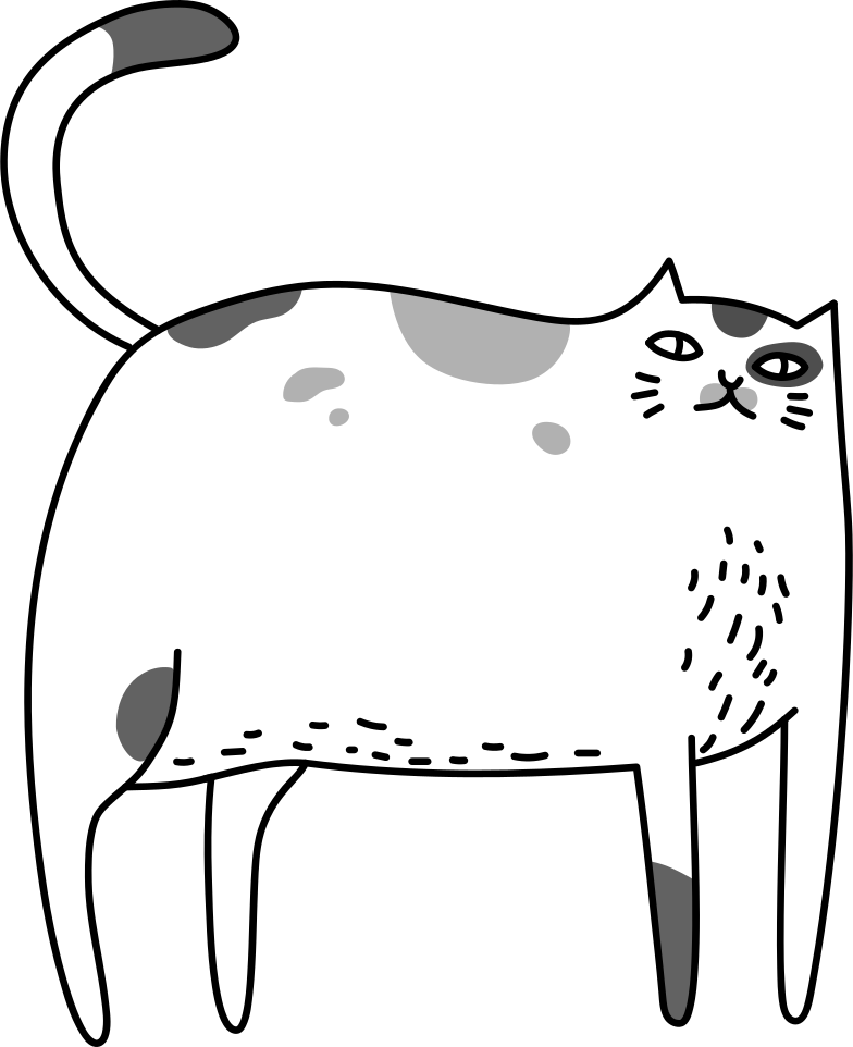 standing cat Clipart illustration in PNG, SVG