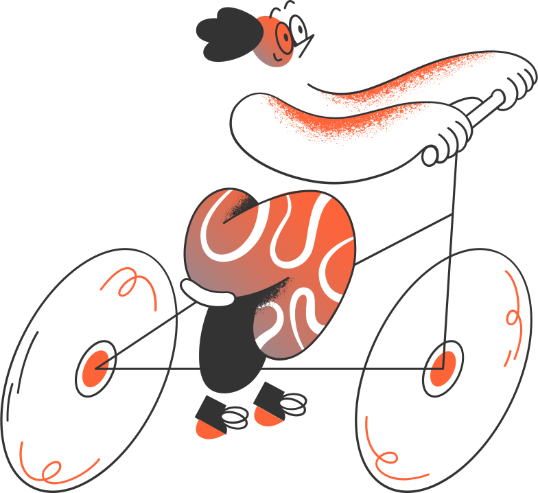 man on the bicycle Clipart illustration in PNG, SVG